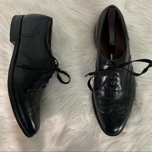 Allen Edmonds Black Wingtip Lace Up Shoes